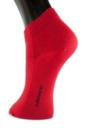 LINDNER® Shorties - Sneaker Golfsocken - rot